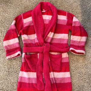 Victoria's Secret Robe Striped Pink Plush